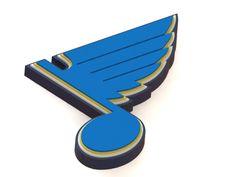 StLouis Blues ice hockey team logo. #StLouisBlues #icehockey #3Dmodel #logo #NHL