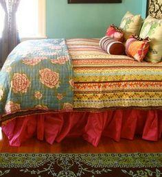 boho pattern floral bedding