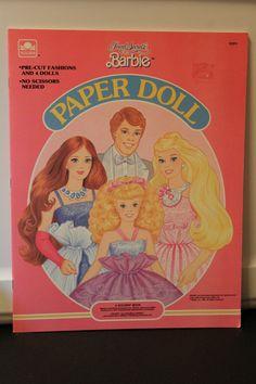 Fabulously Vintage Jewel Secrets Barbie Paper Dolls - GOLDEN 1987 - #1537-1