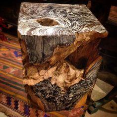 Burnished teak root accessories
