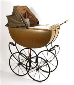 Toys - Puppenwagen mit hohen Rädern, - Dorotheum Antique Toys, Vintage Toys, Prams And Pushchairs, Dolls Prams, Baby Strollers, Wheels, Auction, Antiques, Wallpapers Android