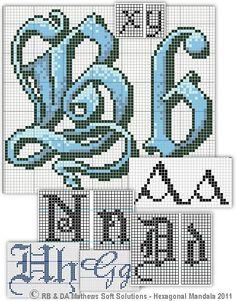 Celtic Knot - Cross Stitch Patterns: Alphabet Set. She was so good at cross stitch, she taught me.