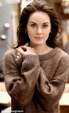 Michelle Dockery - Lady Mary Crawley on Downton Abbey.  Love her sweater.