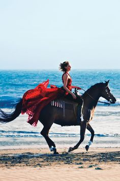 harpersbazaar:  Saddle Up: The Year of the Horse Photo Credit: Alexi Lubomirski