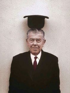 painters-in-color: Belgian surrealist artist René Magritte, Photo by Duane Michals, colorized by painters-in-color love this guy Surrealist, Artist At Work, Painter, Famous Artists, Rene Magritte, Artist, Duane Michals, Surrealism, René François Ghislain Magritte