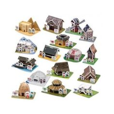 Paper Toy Scale Model Kit for Kids Adult - World Traditional House & Clothes