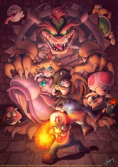 Super Mario Bros. by Gnomo Del Bosque