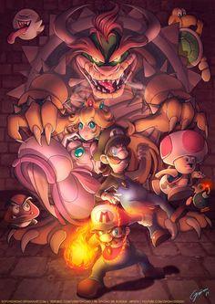 Super Mario Bros. by Gnomo Del Bosque