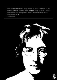 John Lennon Life Quote Poster Paper Print John Lennon Posters Personalities Quotes Motivation Quotes Motivation Posters In India Buy Art