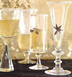 Ginger champagne with star anise