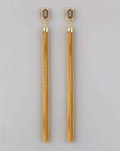 Colette Malouf | Crystal Chain Tassel Earrings (Stylist Pick!) - CUSP