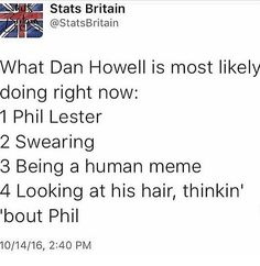 I'm still not over this and how the first option is him doing Phil 😂💕