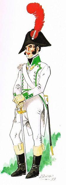 Regimiento Fijo de Ceuta. Teniente de Fusileros de Gala 1805-1809