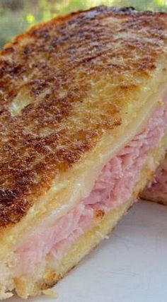 Monte Cristo Sandwich-pesonally I don't like nutmeg or powdered sugar on mine - I prefer the salty version.