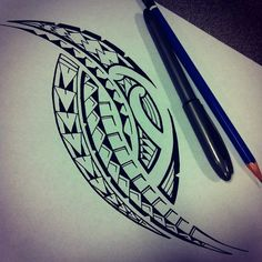 samoan tattoos blended with tribal Samoan Designs, Polynesian Tattoo Designs, Polynesian Art, Tribal Tattoo Designs, Tribal Tattoos, Tatau Tattoo, Marquesan Tattoos, Samoan Tattoo, Tattoo Maori