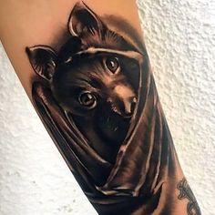 Cute Bat Tattoo Tattoo Idea
