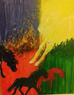 Horse Angel, I did this My Arts, Angel, Horses, Painting, Painting Art, Paintings, Painted Canvas, Horse, Drawings