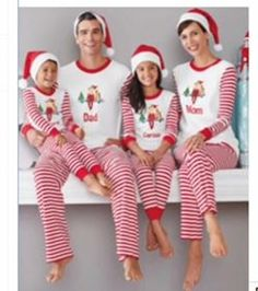 95191f6af0 PRE-ORDER Personalized Adult Red and White Christmas Pajamas- Sizes  small-Xlarge