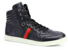 Some great Hightops for any outfit Gucci Guccissima High-Top Sneakers Gucci  Sneakers 3ea4a6f5f
