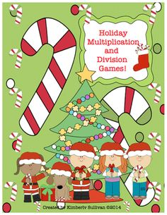 FREE! Christmas Multiplication and Division Games! Centers! from Kimberly Sullivan on TeachersNotebook.com -  - Great for math centers, individualized instruction, small groups, early finishers, and homeschool.