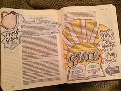 Titus bible Journaling A Mississippi woman's Bible illustrations helped her get through a difficult time in her life, and the powerful story behind the pages is what brought her to share them on social media. My Bible, Bible Art, Bible Quotes, Bible Verses, Book Of Titus, Bible Doodling, Get Closer To God, Bible Illustrations, Bible Prayers
