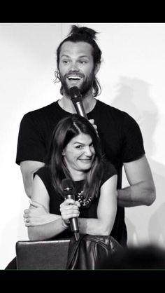 Jared's man bun. Oh my gosh!! I love Gen's face!! Hahaha!!