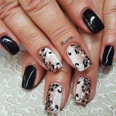 Nails shape and lengths 18 trendy Ideas Fancy Nails, Cute Nails, Pretty Nails, Gel Nail Designs, Cute Nail Designs, Beautiful Nail Art, Gorgeous Nails, Nail Art Arabesque, Pink Black Nails