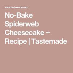 No-Bake Spiderweb Cheesecake ~ Recipe | Tastemade