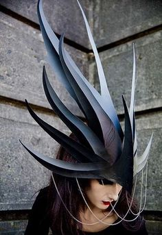 Dragon Queen headdress by Phillip Valdez LRP headdress LARP costume or inspiration for miniature decoration Costume Makeup, Cosplay Costumes, Halloween Costumes, Fairy Costumes, Character Inspiration, Character Design, Dragon Costume, Headgear, Headdress