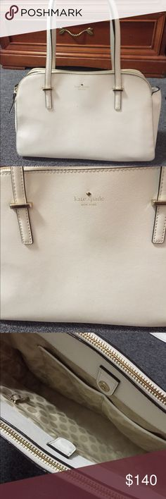 "Kate Spade handbag Kate Spade handbag. Color white. Good condition. Fits 13"" laptop kate spade Bags Satchels"