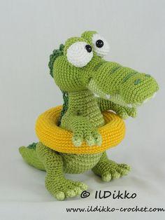 ❤ Conrad The Crocodile Amigurumi Crochet Pattern by IlDikko