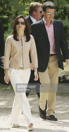 Crown Princess Mary of Denmark and her husband Crown Prince Frederick walk arounf Port Arthue on March 11, 2005 in Hobart, Australia. The Port Arthur Prison Colony site gained notority on April 28, 1996 when Martyn Bryant began shooting indiscriminately with a semi-automatic rifle murdering 35 people.