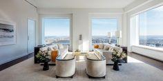 Obývací pokoj světlá varianta bílá, černá, oranžová