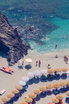 """Signed by Gray Malin, this aerial image of Cinque Terre is part of his """"La Dolce Vita"""" series. Documenting many of Italy's most famous beaches on a road trip, this series was inspired by the glamorous Italian Riviera lifestyle that mesmerize. Places Around The World, Oh The Places You'll Go, Places To Travel, Places To Visit, Travel Around The World, Travel Destinations, Dream Vacations, Vacation Spots, Vacation Days"""