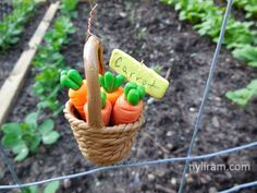 Polymer Clay Garden Plant Markers - Carrots (by Marilyn Morrison)
