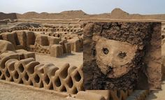 Peculiar wooden sculptures discovered at Chan Chan in Peru, possibly grave markers of ancient VIPs.