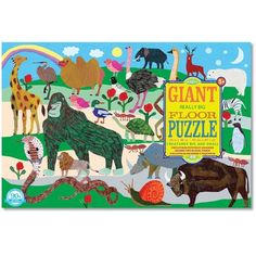 eeBoo Creatures Big and Small Giant Puzzle