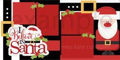 Funky Santa Claus title scrapbook clip art christmas cut outs for cricut cute svg cut files free svgs cute svg cuts