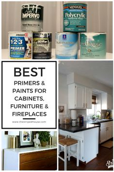 Best Primers and Paints for Cabinets, Furniture & Fireplaces