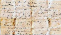 "200 year old french love letter.  ""...My dear, I cover you with kisses and caresses until… I need you in this moment of desire. I love you."""