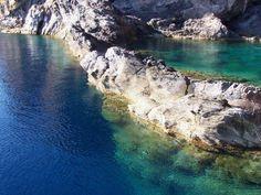 """The sea of """"piscina di Venere"""" (swiming pool of Venus) , Vulcano Island Italy"""