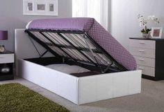 Side Lift Ottoman Storage Bed Frame