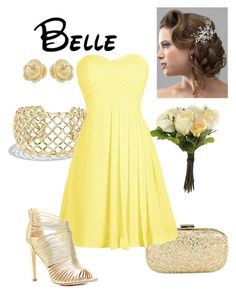 """""""Disney - Belle"""" by briony-jae ❤ liked on Polyvore featuring OKA, David Yurman, Anya Hindmarch, Effy Jewelry, women's clothing, women, female, woman, misses and juniors"""