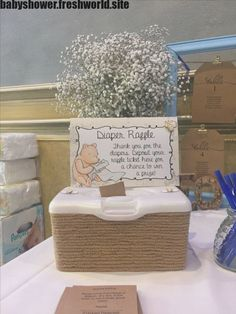 winnie the pooh baby shower 12 Awesome Baby Shower Activities and Ideas that Arent Games - LoveLiliya Fotos Baby Shower, Idee Baby Shower, Fiesta Baby Shower, Shower Bebe, Girl Shower, Diaper Raffle Baby Shower, Baby Shower Diapers, Baby Shower Girl Games, Cute Baby Shower Ideas