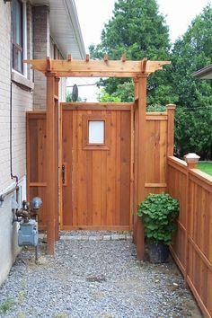 inspired backyard privacy fence design ideas page 6 Wooden Garden Gate, Garden Doors, Garden Fencing, Backyard Gates, Backyard Privacy, Backyard Landscaping, Fenced In Backyard Ideas, Backyard Designs, Landscaping Ideas