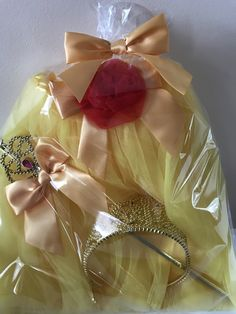 Disney Princess Belle Tutu, Wand and Tiara Party Favor Sets available in Pink or Red.