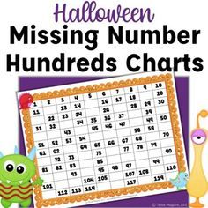 Halloween Missing Number Hundreds Charts: Writing Numbers from 0-120