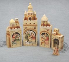 "Village Nativity Nesting Set 11"" (Nativity) $49.95  #DeseretBookPinWIsh  So unique and beautiful!"