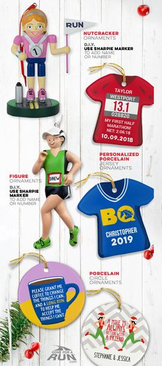 We have the perfect Running ornaments for every style! Makes a great custom Christmas gift. Christmas Themes, Christmas Holidays, Christmas Gifts, Holiday Decor, Nutcracker Ornaments, Christmas Tree Ornaments, Personalized Products, Race Day, Tis The Season