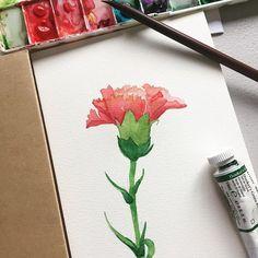 #watercolor #watercolors #watercolorflowers #flower #watercolorpainting #watercolour #watercolourpainting #watercolorart #watercolorart #winsorandnewton #winsornewton #floralpainting